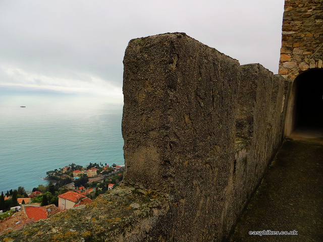 """sea view from the Roquebrune Castle"""