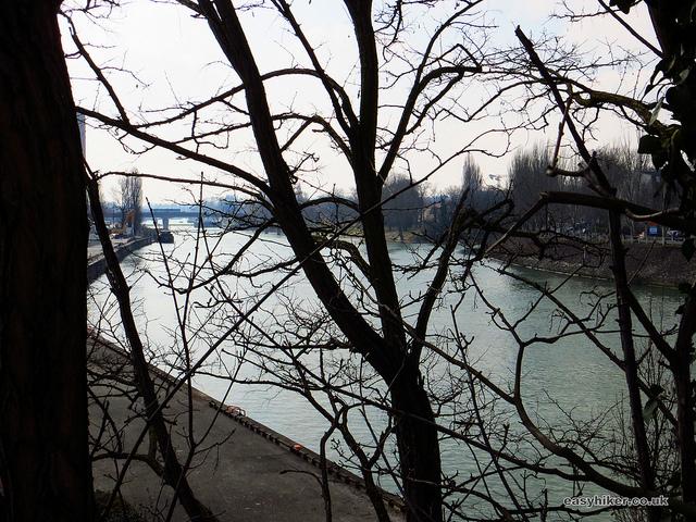 """a fine weather walk along a river in Maur Creteil near Paris"""