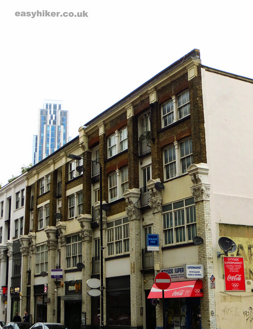 """Squalid part of London near thriving business area along the London crime trail part 2"""