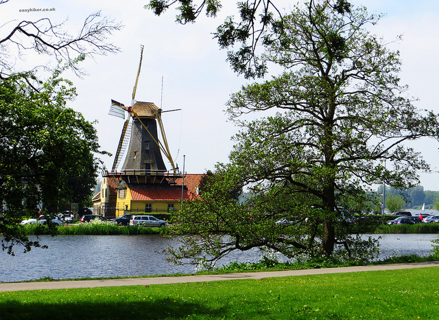 """A windmill along a walk in Rotterdam Kralingse Bos"""
