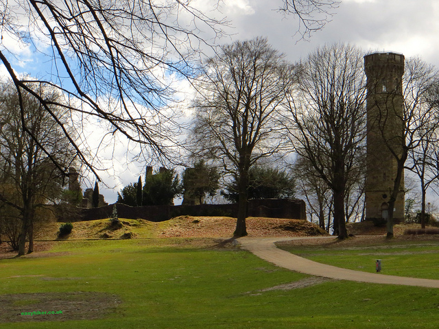 """ castle ruins in daytrip destinationSyburg beside tower"""