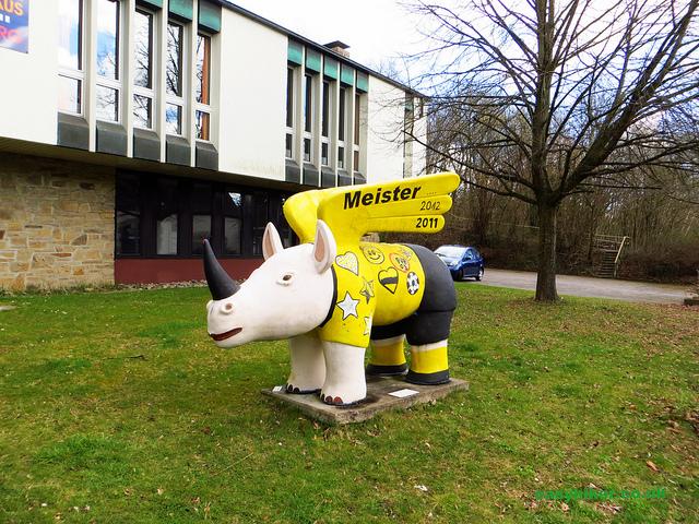 """winged hippo, Dortmund's symbol"""