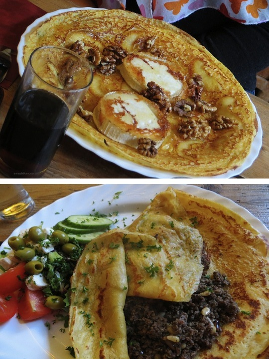 """Eating in Utrecht - In Pannenkoekenrestaurant 'De Oude Muntkelder', sweet and savoury pancakes"""