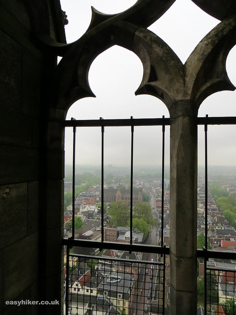 """view from our vertical hike in Utrecht of the city from the belfry"""