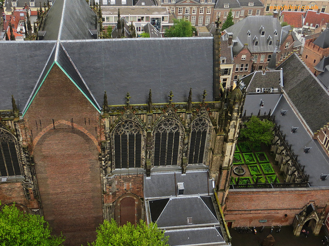 """View from the top of the tower in our vertical hike in Utrecht"""