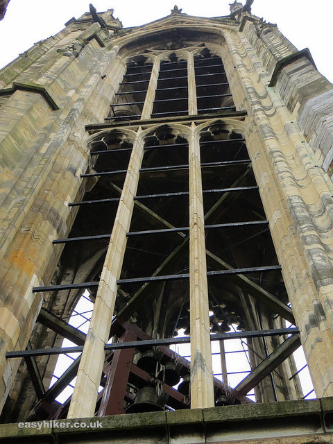 """highest point of our vertical hike in Utrecht - cathedral belfry"""