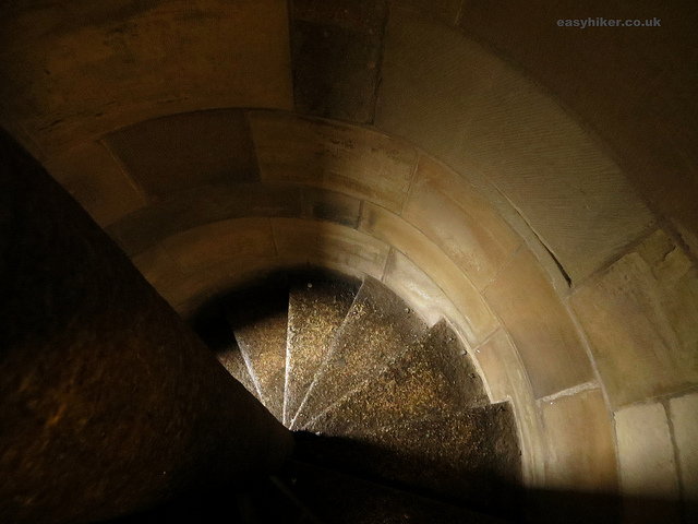 """Winding staircase of our vertical hike in Utrecht in the cathedral tower"""