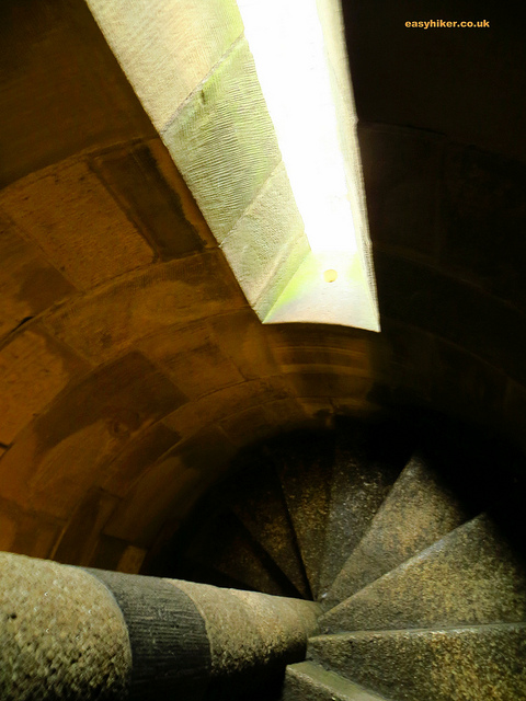 """vertical hike in Utrecht along the winding stairways of the cathedral tower"""