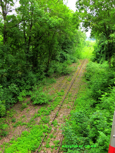 """The old tracks of the railtrack hiking trail in Germany"""