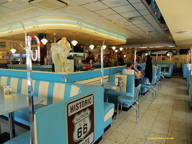 """Inside the StarChief Diner in the Ruhrgebiet"""