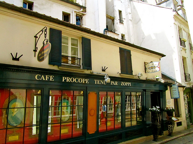 """Cafe Procope in the Marais along one of the themed walks in Paris"""