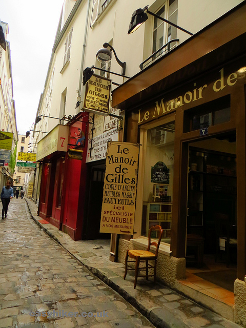 """narrow alleyway in the Marais on one of our themed walks in Paris"""