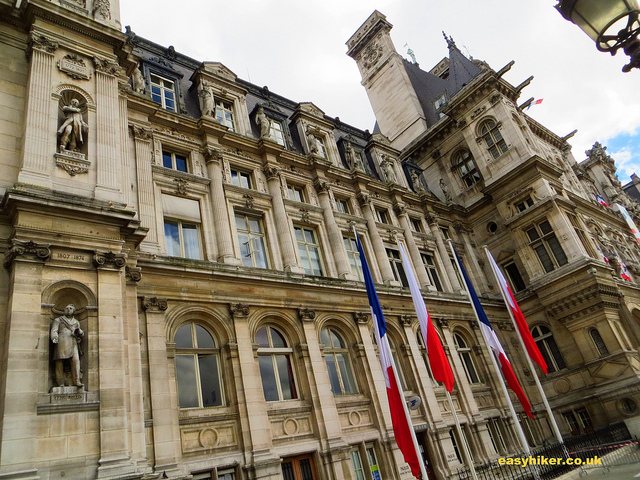 """City Hall of Paris along one of our themed walks in Paris"""