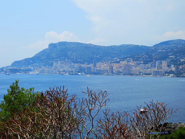 """Monaco seen from the Cap Martin easy hiking trail"""