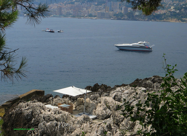 """a private cove along the Cap Martin in the French Riviera"""