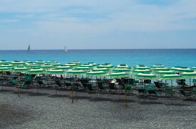 """Along the lungomare towards Bordighera"""