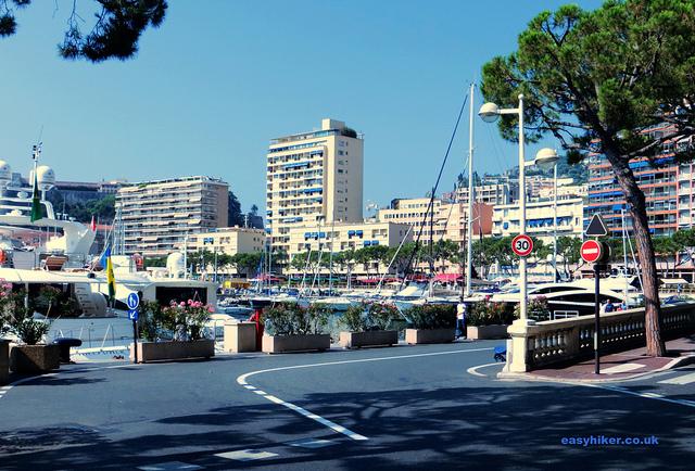 """one lap around Monaco passing the Tabac Corner of the Monaco F1 tracks"""