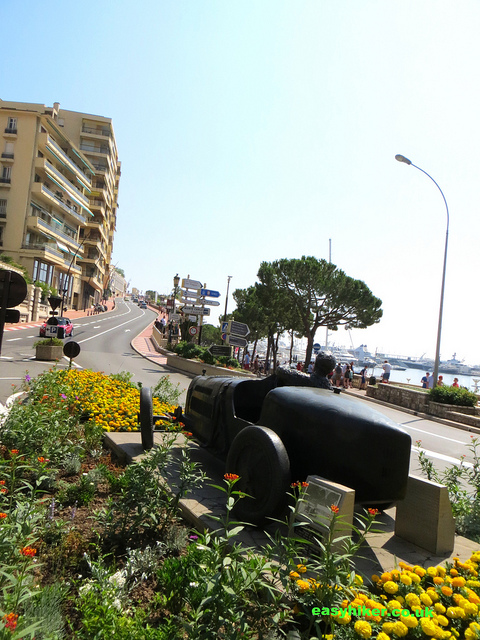 """Doing one lap around Monte Carlo along the Avenue d'Ostend"""