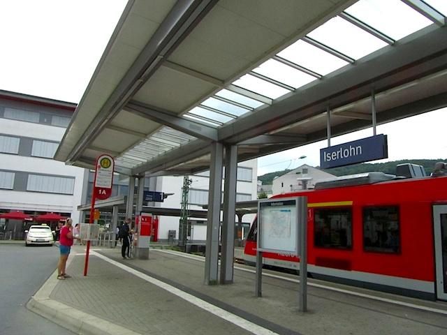 """The hiking train station in Iserlohn"""