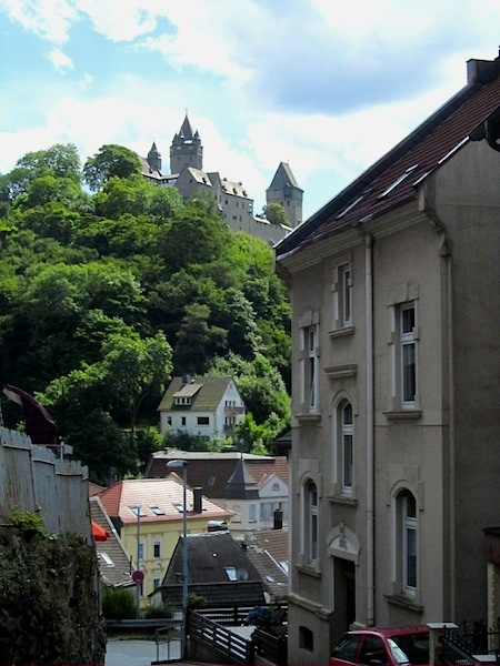 """Altena Castle towering over the town - where the youth hostel was born"""