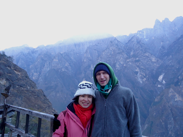 """Morning sunrise Upper Trail Hike Yunnan China not to miss when hiking Tiger Leaping Gorge"""