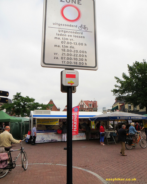 """Market square on a hike from Oldenzaal to Hengelo"""