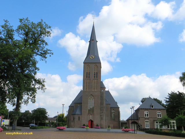 """Town church in Deuningen on a hike from Oldenzaal to Hengelo"""