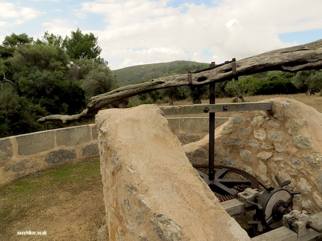 """old mule powered well seen while hikingin Mallorca on the Ermita de Betlem trail"""