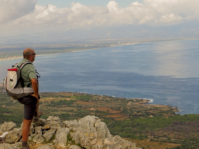 """Viewing of the coast from hiking trail to Ermita de Betlem in Mallorca beyond the beaches"""
