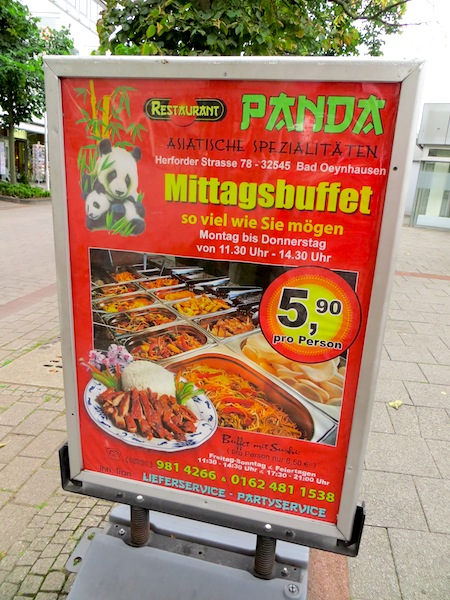 """Chinese restaurant buffet for €5.90 per person in Bad Oeynhausen"""