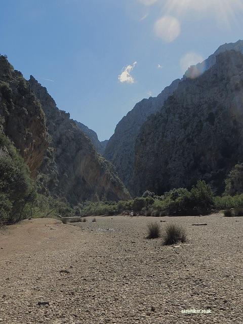 """Torrent de Pareis on the no frills island Tour in Mallorca"""