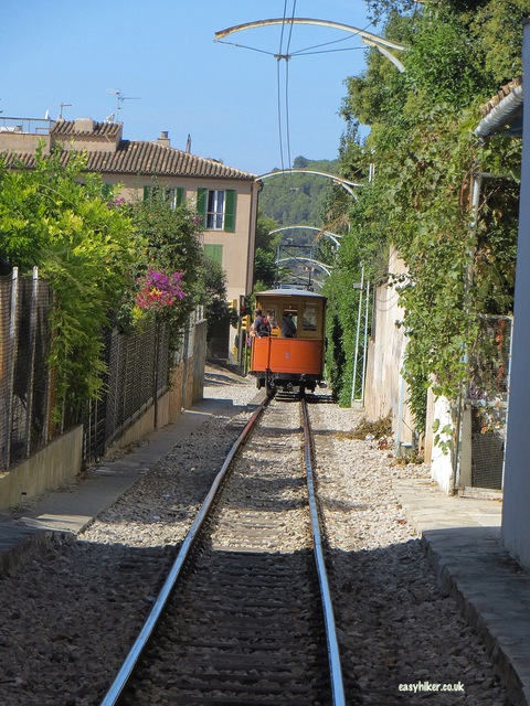 """a tramway ride on a no frills island tour in Mallorca"""