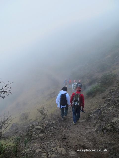 """foggy trail head in the Gran Canaria Walking Festival"""