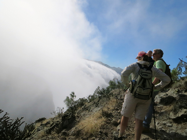 """beyond the cold and foggy trail to a sunny trek in Gran Canaria"""