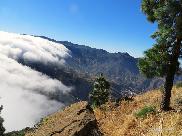 """clouds clearing away from the trail leading to Altenara in Gran Canaria"""