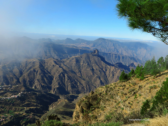 """better view of the caldera in the cruz de tejeda trail in Gran Canaria"""