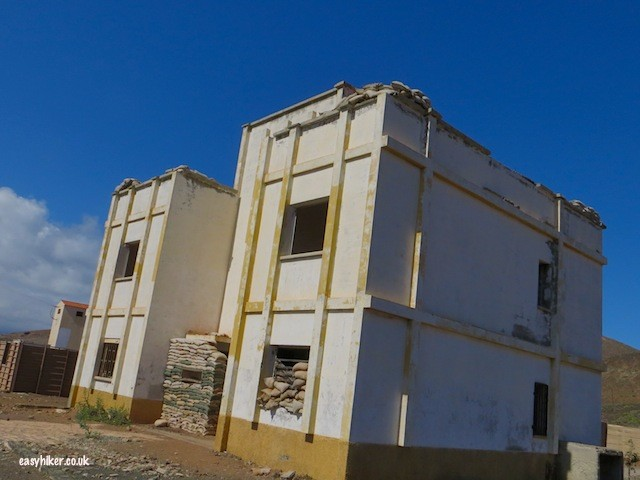 """old building used as target practice in La Isleta in Gran Canaria"""
