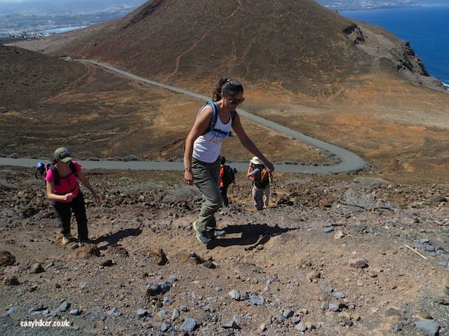 """steep challenging hike up one of the three volcanoes of la isleta"""