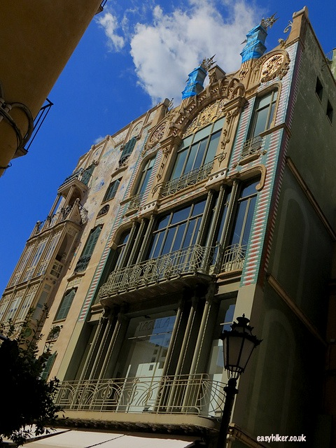 """Art Nouveau building seen while sightseeing in Palma de Mallorca"""