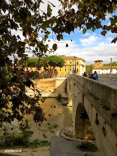"""Bridge to cross to get to Isola Tiberina in Rome"""