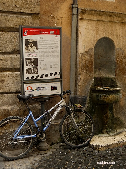 """On of the many posters indicating where famous movies in Rome were shot"""