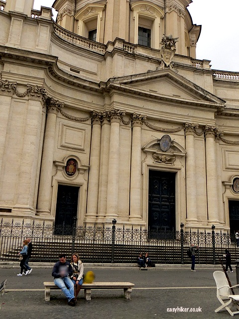 """More famous movies in Rome in front of Church of Sant'Agnese in Piazza Navona"""