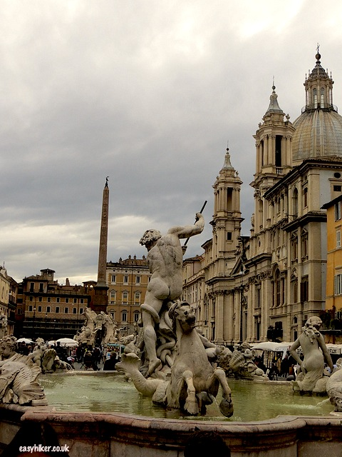 """More famous movies in Rome in Piazza de Navona"""