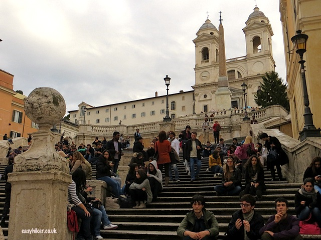 """Spanish steps - one of the most spots used in famous movies in Rome"""