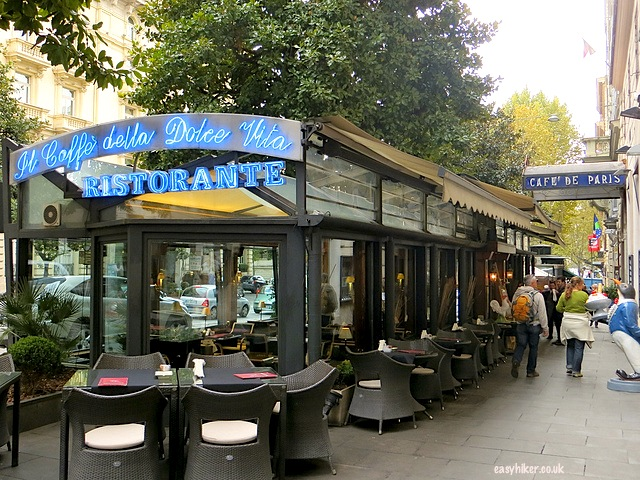 """Cafe de Paris - one of the many sites where famous movies in Rome were set"""