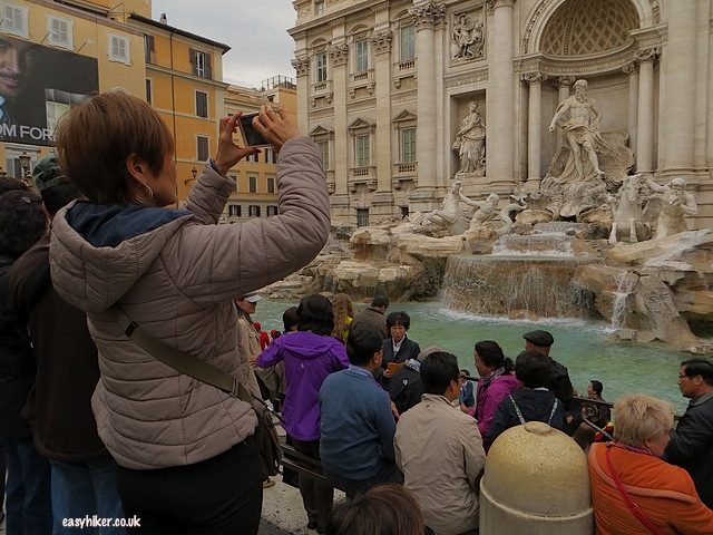 """Fontana de Trevi used in famous movies in Rome"""