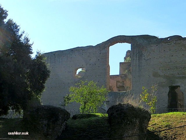 """Ruins of great buildings along the road to Rome"""