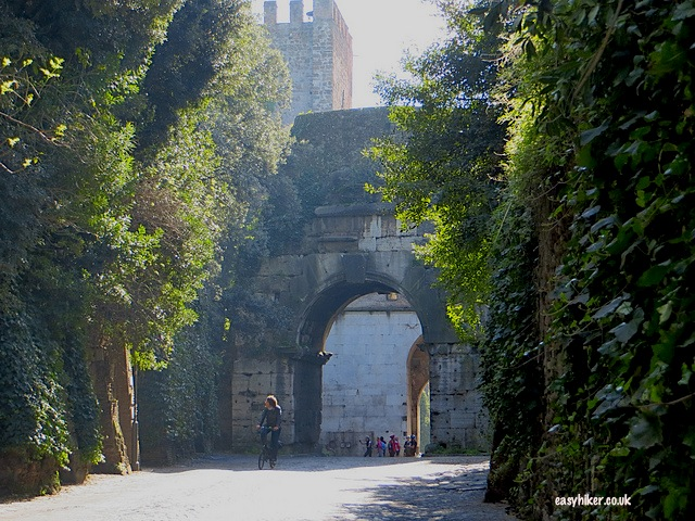 """Double city wall where the Appia Antica starts"""