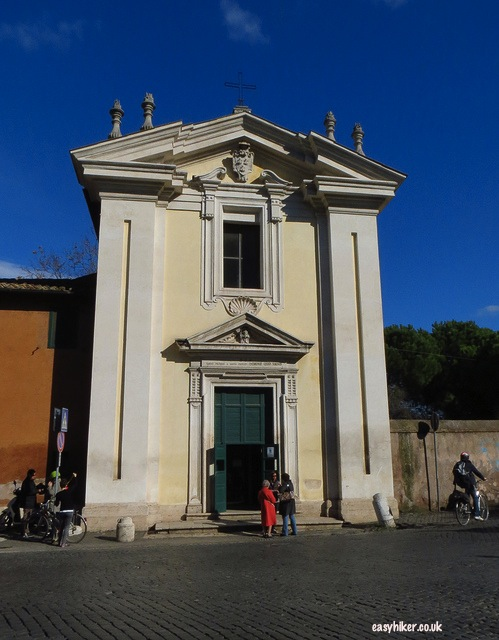 """Chapel marking the place St Peter turned back on the road to Rome"""