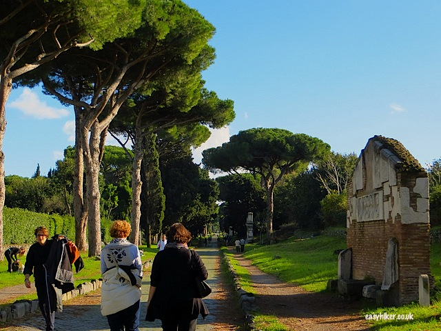 """Walking down the road to Rome"""